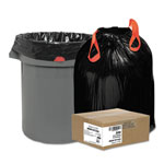 Webster Black Drawstring Trash Bags, 30 Gallon, 1.2 Mil, Case of 200