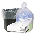 Webster Webster Ultra Plus Clear Flat-Bottom Trash Bags, 10 Gallon, 8 Micron, Case of 1000