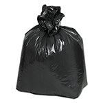 Webster 2-Ply Low-Density Can Liners, 16gal, 0.9 Mil, 24 x 32, Black, 500/Carton