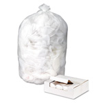 Webster Webster Ultra Plus Clear Flat-Bottom Trash Bags, 60 Gallon, 14 Micron, Case of 200