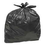 Webster Large Trash Bags, 33 gal, 0.75 mil, 32 1/2 x 40, Black, 50/BX, 6 BX/CT