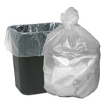 "Webster Webster Good'nTuff Clear Trash Bags, 16 Gallon, 5 Micron, 24"" x 31"", Case of 1000"