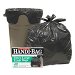 Webster Super Value Pack Trash Bags, 33gal, .7mil, 32.5 x 40, Black, 40/Box
