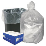 Webster High Density Can Liners, 16 gal, 8 mic, Natural, 1000 per Case