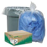 Webster Webster Ultra Plus Clear Trash Bags, 45 Gallon, 2 Mil, Carton of 100