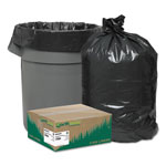 "Webster Webster Extra Heavy Black Flat-Bottom Trash Bags, 45 Gallon, 1.35 Mil, 40"" x 46"", Case of 100"