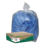 Webster Webster Recycled Clear Trash Bags, 60 Gallon, 1.5 Mil, Carton of 100