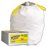 Webster Webster Xtreme Flex White Drawstring Trash Bags, 13 Gallon, 0.9 Mil, Box of 60