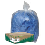 Webster Clear Recycled Can Liners, 31-33gal, 1.25mil, Clear