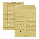 Westvaco Interoffice Envelopes, Recyc. Kraft, Re Use A Seal®, 10x13, 50/Bx