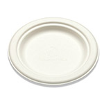 "Bridge-Gate 6"" White Sugarcane Plate"