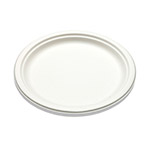 "Bridge-Gate 9"" White Sugarcane Plate"