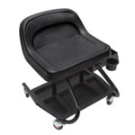 Whiteside Heavy Duty Molded Creeper Seat, with Steel Frame, PVC Covered Seat, Tool Storage Tray, Four Casters