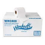 Windsoft 2-ply Recycled Bath Tissue, 400 Sheets