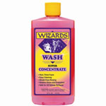 RJ Star Wizards Wash Super Concentrate Car Wash, 16 oz Bottle, High Sudsing, Neutral PH