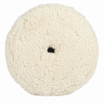 "RJ Star Finish Cut 50/50 Blend Buffing Pad, 7"" Diameter, Wool and Polyester, Hook and Loop Attachment"