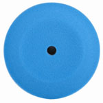 "RJ Star Foam Finish 2 Blue Buffing Pad, 8.5"" Diameter, Low Density Foam, Hook and Loop Attachment"
