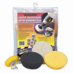RJ Star Mini Buffing System, Includes Three Assorted Mini Pads and Backing Plate