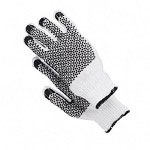 Wells Lamont Work Glove, Men's Large, White/Black