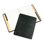 Wilson Jones® Corporation Record & Minute Book Complete Outfit, Black Leather Like Cover