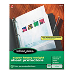 Wilson Jones Super Heavy Weight Sheet Protector, Non-Glare Finish, Clear, 25/Box