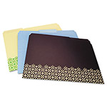 Wilson Jones Decorative Folders, Letter, Assorted, 6/Pack
