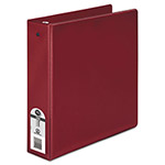 "Wilson Jones 35% Recycled Vinyl Round Ring Binder, 2"" Capacity, Red"