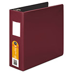 "Wilson Jones 40% Recycled No Gap Locking D-Ring Binder, 3"" Capacity, Red"