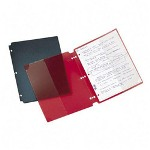 "Wilson Jones 2 Pocket Poly View Snap Folder, Non Stick, 8-1/2""x11"", Assorted"