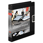 "Wilson Jones Custom Imprint 1"" View Binder, Black"