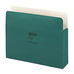 "Wilson Jones Recyc. File Pockets, Letter Size, 3 1/2"" Exp., Green, 25/Box"