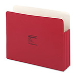 "Wilson Jones Recyc. File Pockets, Letter Size, 3 1/2"" Exp., Red, 25/Box"