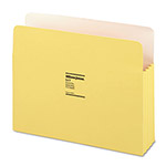 "Wilson Jones Recyc. File Pockets, Letter Size, 3 1/2"" Exp., Yellow, 25/Box"