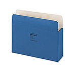 "Wilson Jones Recyc. File Pockets, Letter Size, 5 1/4"" Exp., Dark Blue, 10/Box"