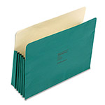 "Wilson Jones Recyc. File Pockets, Letter Size, 5 1/4"" Exp., Green, 10/Box"