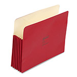 "Wilson Jones Recyc. File Pockets, Letter Size, 5 1/4"" Exp., Red, 10/Box"