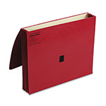 Wilson Jones Expanding Wallet, Velcro Gripper® Flap, Letter Size, Red