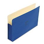 "Wilson Jones File Pockets, Legal Size, 3 1/2"" Expansion, Dark Blue, 25/Box"