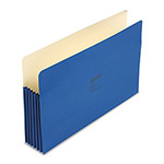 "Wilson Jones Recyc. File Pockets, Legal Size, 5 1/4"" Exp., Dark Blue, 10/Box"