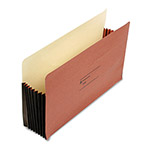 "Wilson Jones Super Capacity Recycled Redrope File Pockets, Legal Size, 7"" Expandable, 10/Box"