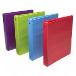 "Wilson Jones Vinyl D-Ring Binder, 1"" Capacity, Assorted Colors"