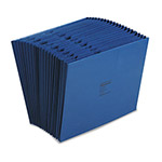 Wilson Jones Expanding File, Open Top, A Z Index, 21 Pockets, Letter, Dark Blue