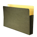 "Wilson Jones Green Recycled File Pocket, Straight Cut, Legal, 7"" Expansion"