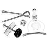 Wilmar Brake Service Kit, 5 Piece, with Pad Spreader, Piston Tool, Spoon, Brake Spring Pliers, Bleeder Kit