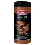Weiman Products Leather Wipes, 7 x 8, 30/Canister, 4 Canister/Carton