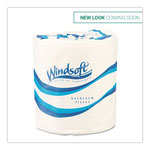 Windsoft Facial Quality Bulk Toilet Tissue, One Ply, 4 1/2 x 3 1/4, White