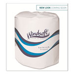 Windsoft Facial Quality Bulk Toilet Tissue, 2-Ply, Single Roll,