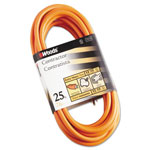 CCI Outdoor Round Vinyl Extension Cord, 12/3 AWG, 25ft, Orange