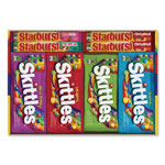 The Wrigley Company Skittles & Starburst Candy Variety Pack, Assorted, 30/Box