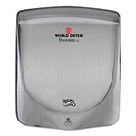 World Dryer VERDEdri Hand Dryer, Stainless Steel, Brushed